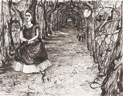 Frida im Schlosspark